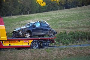 Tre personer färdades i bilen som voltade på Kärrliden i Kaxholmen.