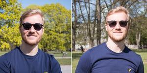 Oskar Lundgren har startat företaget Brigadi Eyewear som säljer solglasögon. Åtta olika unisexmodeller finns att välja mellan. Till vänster ser du modellen