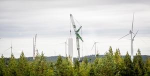 Arbetet i de två vindkraftsparkerna har pågått sedan 2018. Foto: OX2