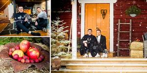 Nicklas och Tomas Lorenzton bytte livet i Stockholm mot ett lugnt liv på landet.