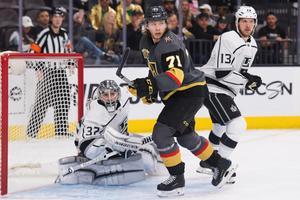 Tidigare VIK:aren William Karlsson har slagit igenom på allvar den här säsongen i nya klubben Vegas Golden Knights. Han slutade trea i NHL:s skytteliga och är nu bara tre matcher ifrån att bli Stanley cup-mästare.FOTO: Bildbyrån/Joel Marklund