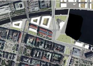 Så här kan den nya dragningen bli på gamla E4, enligt förslaget. Bild: Sundsvalls Kommun