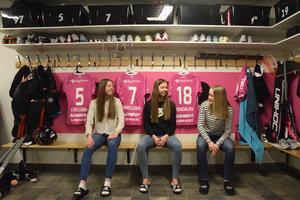 Clara Hellgren, Frida Hellgren och Elsa Rendalen tror på framgång i SSL-kvalet.