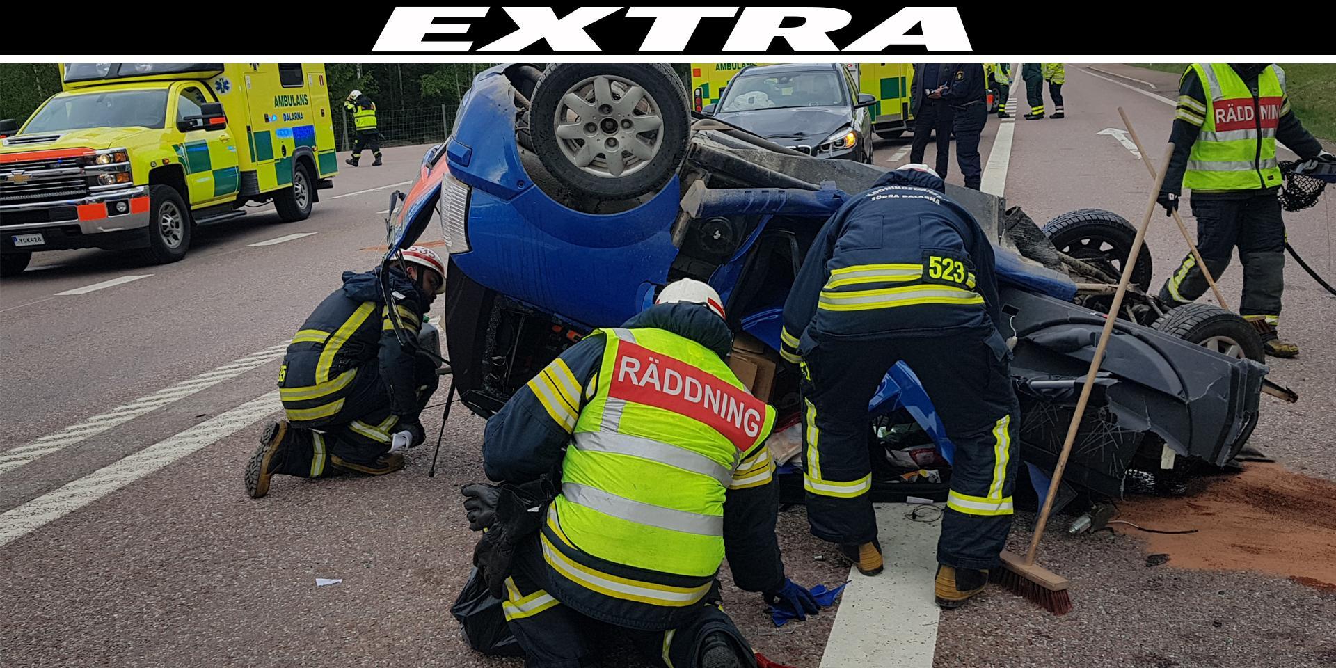 Man till sjukhus efter svåra olyckan på riksväg 70 – vårdas med allvarliga skador
