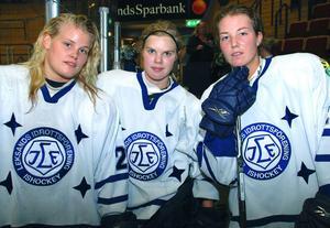 Leksandsstjärnorna Cecilia Östberg, Anna Borgqvist och Klara Myrén på en bild från 2011. Foto: Christer Klockarås
