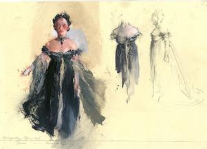 Kostymskiss för Tosca på Metropolitanoperan i New York.