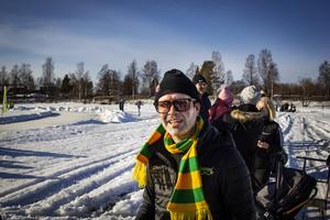 Förutom att stå i mål i a-laget, jobbar Jonas Svensson även med klubbens olika event, som till exempel Kyrksjöloppet.