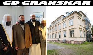Till vänster Abdel Nasser ElNadi som startar upp Nya Kastets Skola i Gävle. På hans högra sida står Gävleimamen Abo Raad.