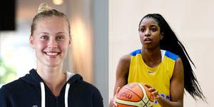 Regan Magarity och Binta Drammeh, båda föredetta spelare i Telge Basket.