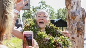 Foto: Anneli Åsén CarlssonFanny Borgström i målgången på Kia Fjällmaraton .