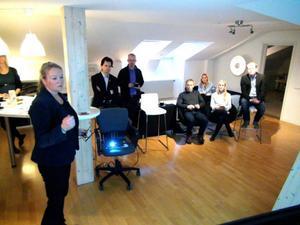 Regionchefen för Företagarna i Jämtland-Härjedalen, Anette Tandberg, kunde presentera positiva signaler i höstens småföretagarbarometer.