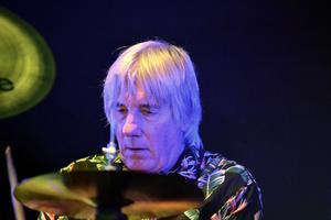 Mick Avory, trummis från starten av The Kinks till 1984. Lirade även vid några tillfällen med The Rolling Stones. Foto: Åke Dahlbäck