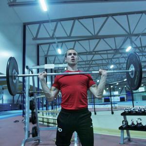 Tidigare tränade William Lundgren dagligen. Foto: Privat