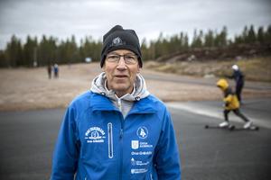 Projektledare Hans Stjernqvist har lagt ner 5 år på arbetet med den nya asfaltbanan.