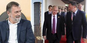 Oligarken Oleg Deripaska gillar Sverige, menar Rysslandsexperten Malcolm Dixelius och pekar på att det är något som talar för Kubals överlevnad. Däremot faller hans imperium inte om fabriken tvingas stänga. Bilder: Bertil Enevåg Ericson/TT, AP och ST Arkiv.