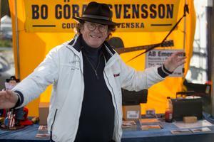 Bo Göran Svensson från Tyringe sålde sin egen musik.