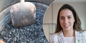 I Högdalen i Stockholm finns sedan 2017 en biokolsanläggning. Nu vill Naiara Pereira Cuncha se en i Södertälje redan till sommaren.