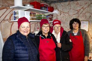 Lilian Lingvall, Britt Esbjörnsson, Irene Norgren och Wenche Jerfsten i hembygdsföreningen.