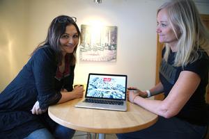 Camilla Collett och Annethe Andersson. Regionstad Mora, Regionstad Mora, organisationen, som arbetar med den akuta frågan om flygplatsens framtid.