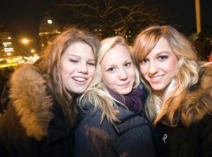 Hanna Englund, Caroline Ståhl och Ellen Hjort.