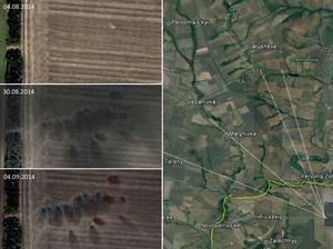 Bild från rapporten som visar avfyrningsplats och nedslagsplats.