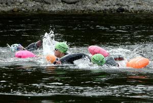 Stafan Andersson simning i öppet vatten Viforsen