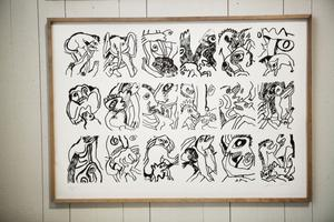 Bengt Lindström gjorde en saga och skapade både bild och text.