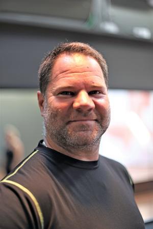 Anders Nilsson ser den virtuella gruppträningen som ett bra komplement till hans två pt-pass i veckan.