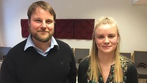 Funktionssamordnaren Jonas Bergman och vilthandläggaren Linda Vedin på Länsstyrelsen i Dalarna.