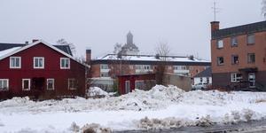 Ödetomten ligger mitt i Sveg. Här stod förut det så kallade