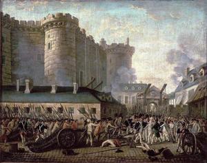 Stormningen av Bastiljen 1789. Okänd konstnär.