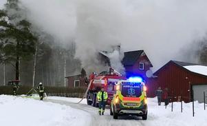 Larmet om branden kom klockan 14.23 på onsdagseftermiddagen.Foto: Göran Häggström/Foto-Mike