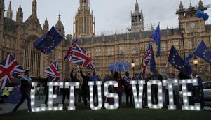 Många i London efterlyser en ny folkomröstning. Foto: TT