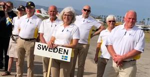 Sveriges lag i VM i Precisionsflygning i Spanien, Lars-Inge Karlsson längst till höger, foto Ann-Sophie Tersmeden