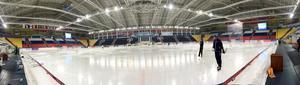 Panoramabild inne i Erofey Arena, Chabarovsk.