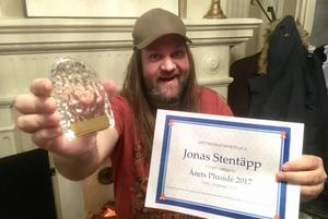 Jonas Stentäpp, prisad av Mittmedia.