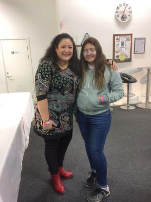 Mina fick även träffa Brenda Hilding från Det stora tårtslaget.
