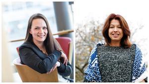 Till vänster Jeanette Andersson, kostchef i Nykvarn och till höger Sara Jervfors, kostchef i Södertälje. Arkivfoto: Edis Portori/Marion Palm