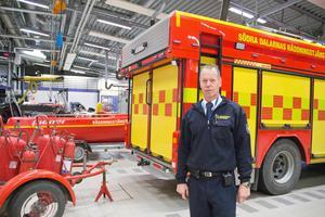 Räddningsledare på plats var Lars Westerfors vid Södra Dalarnas räddningstjänstförbund i Avesta.Foto: Arkivbild/Niklas Hagman