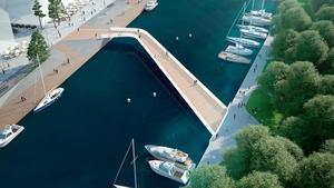 Havslänken; Den som ville fick lämna förslag på vad den bro som ska knyta samman Norrtälje Hamn och Societetsparken ska heta. Av de bidragen blev Havslänken det vinnande förslaget.