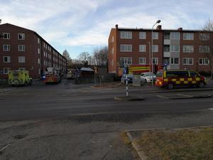 Under lördagseftermiddagen var det ett stort pådrag i Skönsberg efter larm om explosion.