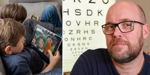 Allt fler drabbas av falsk närsynthet, ögonkramp eller förlamning, enligt Tony Pansell som är optiker på St Görans ögonsjukhus i Stockholm. Foto: Jonas Ekströmer