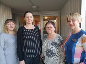 Sanna Seppänen, Mirette Ollila, Arja Sörbom och Mirjam Liljequist var de som arrangerade kaféet för finsktalande. Foto: Privat