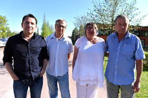 Moderaterna i Orsa: Joakim Larsson, vice ordförande, Morgan Darmell, styrelseledamot, Gunilla Frelin, ordförande och Ronnie Persson, kassör.