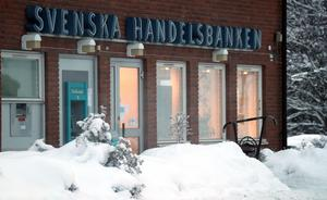 Om ett par månader så stängs dörrarna till Handelsbankens kontor i Fränsta.
