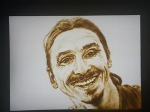 Zlatan Ibrahimovic, sandporträtt av Chloe.