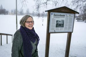 Stina Liljas får ofta frågor om Gropens tillkomst när hon guidar i Leksand.