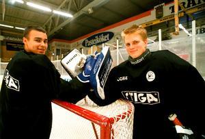Jonas Fransson, till höger, har bland annat bildat målvaktspar med Stefan Liv under sin aktiva karriär.