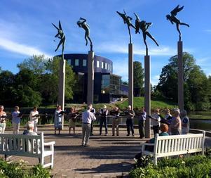 En konsert hölls vid Milles änglar. Foto: Privat