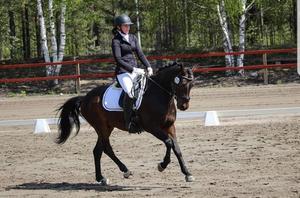 Elsa Nordström och Nørlunds El Leconte, segrare i FEI Lagprogram på 68,929% Foto: Emmie Walldén